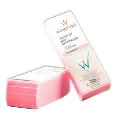 Italwax, Полоски для депиляции, розовые, 7х20 см, 1 упаковка White Line