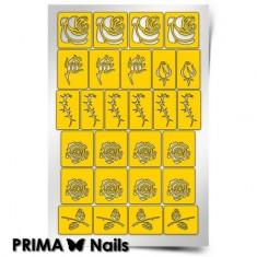Prima Nails, Трафареты «Принт Розы»