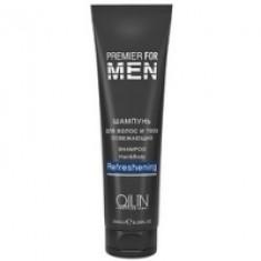 Ollin Premier For Men Shampoo Hair Body Refreshening - Шампунь для волос и тела освежающий, 1000 мл Ollin Professional (Россия)
