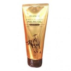 пилинг-гель с гиалуроновой кислотой и лошадиным жиром deoproce horse oil hyalurone peeling gel
