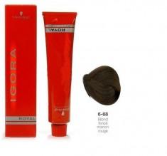 SCHWARZKOPF PROFESSIONAL 6-68 краска для волос Темный русый шоколадный красный / Игора Роял 60 мл