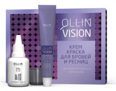 OLLIN PROFESSIONAL Крем-краска для бровей и ресниц в наборе, коричневый / OLLIN VISION SET brown 20 мл