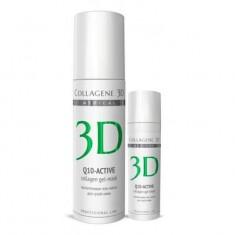 Коллаген 3Д Гель-маска для лица Q10-ACTIVE с коэнзимом Q10 и витамином Е антивозрастной уход для сухой кожи 130 Collagene 3D