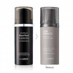 маска кислородная с экстрактом жемчуга the saem gem miracle black pearl o2 bubble mask new