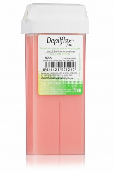 DEPILFLAX 100 Воск для депиляции в картридже, розовый 110 г