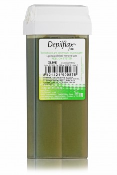 DEPILFLAX 100 Воск для депиляции в картридже, олива 110 г
