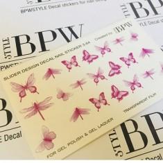 BPW.Style, Слайдер-дизайн «Бабочки» №3-84, фиолетовый градиент