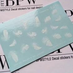 BPW.Style, Слайдер-дизайн «Белые перья» №6-63, градиент