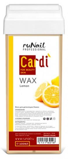 RUNAIL Воск для депиляции, ароматный лимон / Cardi 100 мл