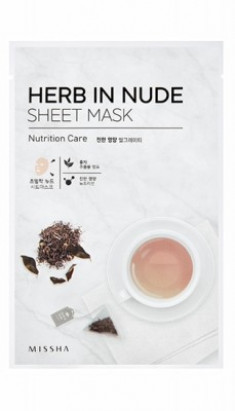 Маска для лица MISSHA Herb In Nude Sheet Mask (Nutrition Care)