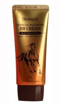 BB-крем с лошадиным жиром DEOPROCE Horse oil hyalurone BB SPF50 №21 Natural beige 60г