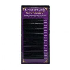 NAGARAKU, Ресницы на ленте Natural Mink, 10/0,10 мм, D-изгиб