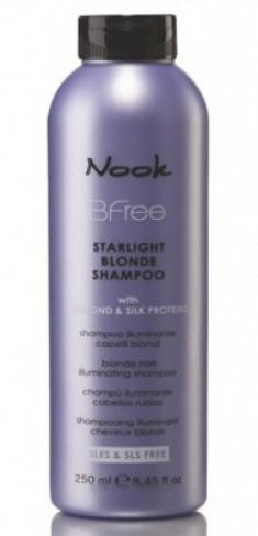 Шампунь сияющий для волос цвета Блонд NOOK BFree Starlight Blonde Shampoo 250 мл