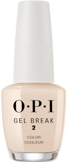OPI Покрытие ухаживающее с эффектом цвета, интенсивный бежевый / Gel Break Too Tan-talizing 15 мл