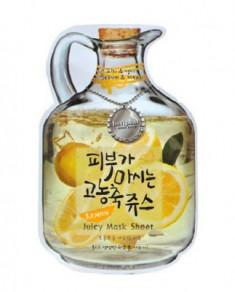 Маска тканевая с лимоном Baviphat Lemon Juicy Mask Sheet sebum & Vital 23г