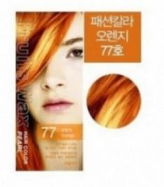 Краска для волос на фруктовой основе Welcos Fruits Wax Pearl Hair Color #77 60мл*60г