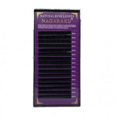 NAGARAKU, Ресницы на ленте Natural Mink, 9/0,12 мм, D-изгиб