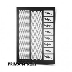 Prima Nails, Трафареты «Волны и молнии»