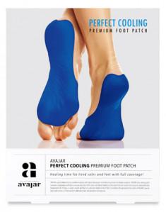 AVAJAR Патч охлаждающий для ступней ног / Perfect Cooling Premium Foot Patch 1 пара