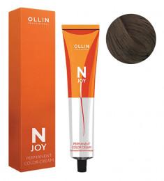 OLLIN PROFESSIONAL 6/71 крем-краска перманентная для волос, темно-русый коричнево-пепельный / N-JOY 100 мл