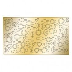 Freedecor, Металлизированные наклейки №203, золото