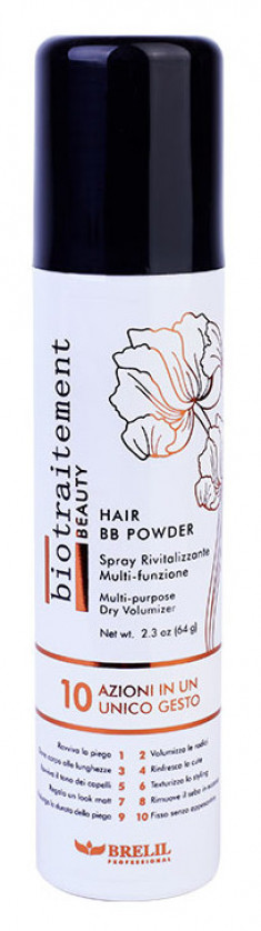 BRELIL PROFESSIONAL Средство сухое длительного действия для придания объема / HAIR BB POWDER Biotraitement Beauty 100 мл