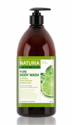 Гель для душа МЯТА и ЛАЙМ EVAS NATURIA PURE BODY WASH Wild Mint & Lime 750 мл