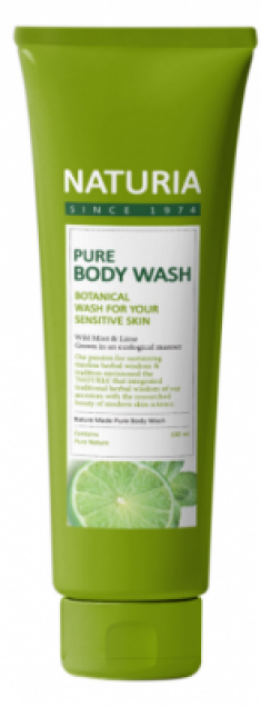 Гель для душа МЯТА и ЛАЙМ EVAS NATURIA PURE BODY WASH Wild Mint & Lime 100 мл
