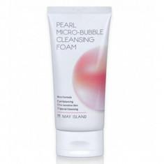 жумчужная пенка для умывания may island pearl micro-bubble cleansing foam