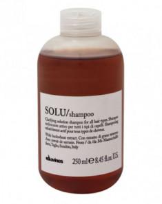 Шампунь активно освежающий для глубокого очищения волос Davines SOLU shampoo 250 мл