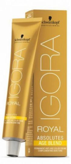 Крем-краска для седых волос Schwarzkopf Professional Igora Royal Absolutes Age Blend 8-07 Светлый Русый Натуральный Медный 60 мл