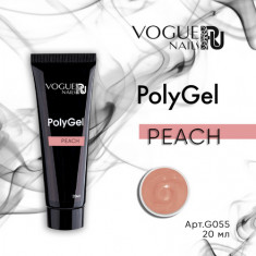Vogue Nails, PolyGel, Peach, 20 мл