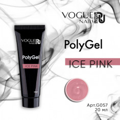 Vogue Nails, PolyGel, Ice Pink, 20 мл