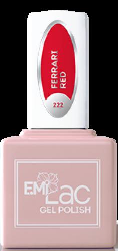 E.MI 222 RM гель-лак для ногтей, Феррари / E.MiLac Red Manifest 9 мл