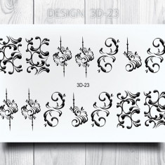 AnnaTkacheva,3Dслайдер№23,черный «Вензель. Вензеля» Anna Tkacheva