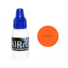 Airnails, Краска для аэрографии NEON Оранжевый, 5 мл