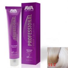 Крем-краска для волос стойкая Kaaral ААА Hair Cream Colorant 11.2 экстра светлый фиолетовый блондин 100 мл