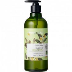 Шампунь очищающий для жирных волос Лимонный Мирт Ausganica 500мл