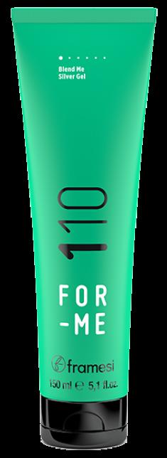 FRAMESI Гель с антижелтым эффектом для седых и светлых волос / FOR-ME 110 BLEND ME SILVER GEL 150 мл