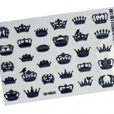 AnnaTkacheva,3D-стикер№033,черный «Короны. Корона» Anna Tkacheva