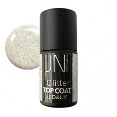 JessNail, Топ без липкого слоя Glitter №02, 10 мл
