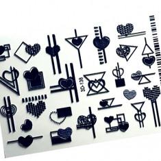 AnnaTkacheva,3D-слайдер№138,черный «Сердце. Геометрия» Anna Tkacheva
