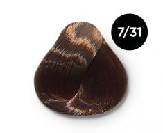 OLLIN PROFESSIONAL 7/31 краска для волос, русый золотисто-пепельный / OLLIN COLOR 100 мл