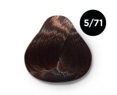 OLLIN PROFESSIONAL 5/71 краска для волос, светлый шатен коричнево-пепельный / OLLIN COLOR 100 мл