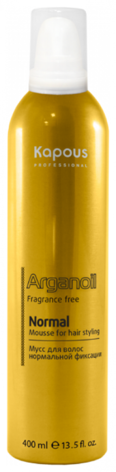 KAPOUS Мусс нормальной фиксации, с маслом арганы / Arganoil 400 мл