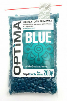 DEPILTOUCH PROFESSIONAL Воск пленочный в гранулах, азулен / OPTIMA BLUE 200 г