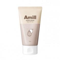 глиняная маска с зерновыми экстрактами amill super grain wash-off pack