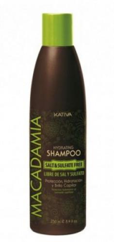 Интенсивно увлажняющий шампунь для нормальных и поврежденных волос Kativa MACADAMIA 250мл