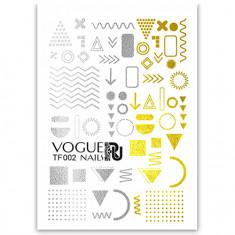 Vogue Nails, Слайдер №002, фольгированный