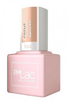 E.MI 063 CE гель-лак для ногтей, Крем-брюле / E.MiLac 6 мл
